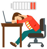 Man sleeping at workplace Stock Image