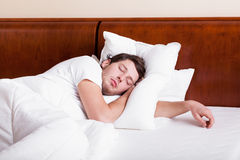 Man sleeping Stock Images