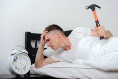 Man Sleeps Royalty Free Stock Image