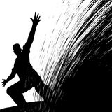 Man sliding Stock Photo