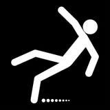 Man slip fall white color icon . Royalty Free Stock Photo