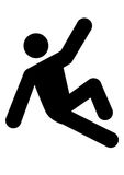 Man slipping icon. Man falling down icon graphic Royalty Free Stock Photo