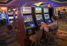 Man at the slot machines Royalty Free Stock Image