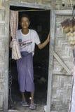 Man in slums. Portrait of man in slums of Mandalay City in Myanmar (Burma Royalty Free Stock Image