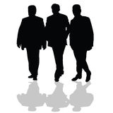 Man in small group silhouette vector Royalty Free Stock Photography