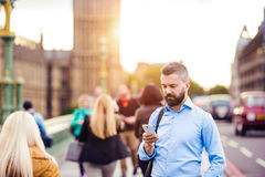 Man with smart phone Royalty Free Stock Photography