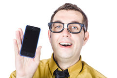 Man with smart phone Royalty Free Stock Image
