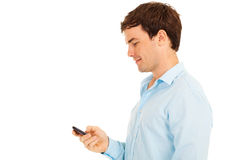 Man smart phone Royalty Free Stock Photography