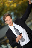 Man in smart suit Stock Images