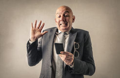 Man with smartphone Stock Images
