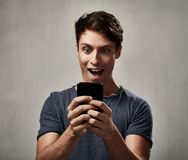 Man with smartphone Royalty Free Stock Images