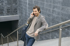 Man smartphone talking Royalty Free Stock Images