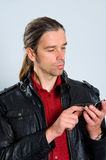 Man with smartphone Royalty Free Stock Photo