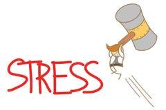 Man smashing stress Royalty Free Stock Images