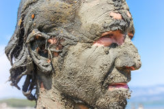 Man smeared with healing mud Stock Photography