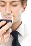 Man smells wine Stock Photography