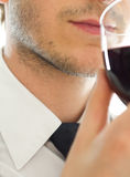 Man smells wine Royalty Free Stock Photos