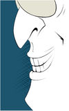 Man smile. In cartoon style Stock Image