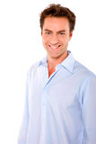 Man smiling. In white background Royalty Free Stock Photography