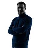 Man smiling friendly  silhouette portrait Stock Images