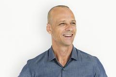 Man Smiling Happiness Portrait Concept stock image