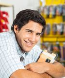 Man Smiling In Hardware Store Royalty Free Stock Image