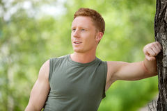 Man smiling and looking away Royalty Free Stock Images