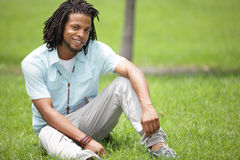 Man smiling in the park Stock Photography