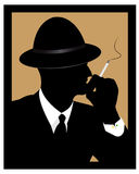 A man smokes a cigarette Stock Photography
