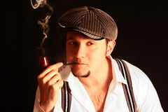Man smoking Stock Photos