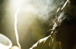 Man smoking Royalty Free Stock Images