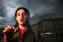Man smoking Stock Images