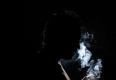 Man Smoking Stock Photo