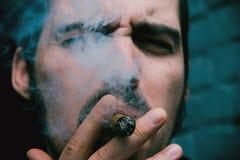 Man Smoking Cigar Royalty Free Stock Image