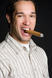 Man Smoking Cigar Royalty Free Stock Photos