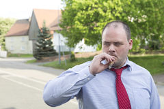 Man smoking cigar Royalty Free Stock Photography
