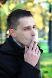 Man Smoking Outdoor Stock Images
