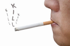 Man smoking cigarette Royalty Free Stock Images