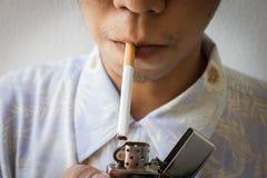 Man Smoking cigarette Stock Photo