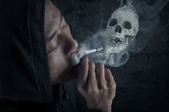 A man smoking cigarette Royalty Free Stock Photography
