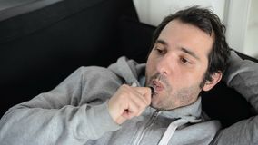 Man smoking e-cigarette stock footage