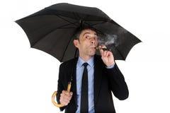 Man smoking electronic cigarette Royalty Free Stock Image