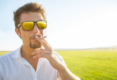 Man smoking Stock Image