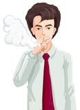 A man smoking Royalty Free Stock Photography