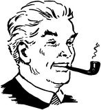 Man Smoking Pipe Stock Image