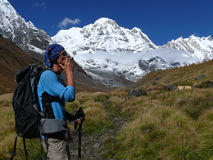 Man smoking pipe in Annapurna Base Camp Stock Photography