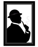 Man smoking a pipe Stock Images
