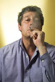 Man smoking Royalty Free Stock Photo