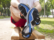 The man in sneakers Royalty Free Stock Photography