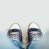 Man in sneakers Royalty Free Stock Image